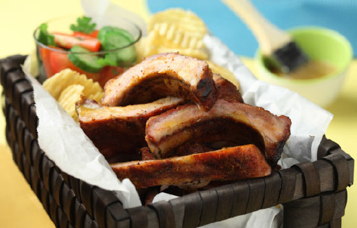 Spicy Back Ribs with Apple Cider Mop