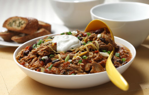 Pulled Pork Tex-Mex Chili
